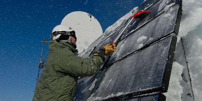 Popular - Arctic weather can damage solar panels