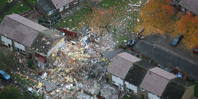 Irlam Estate showing gas explosion