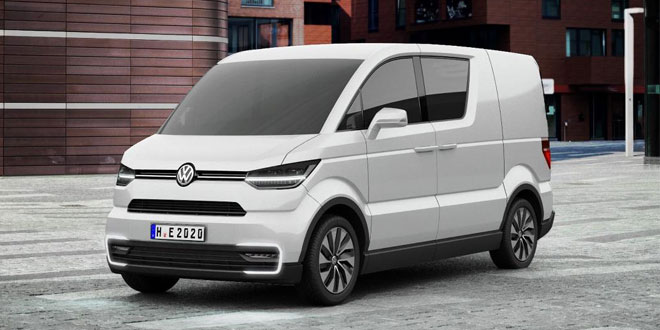 The e-Co-Motion concept vehicle, an electrically powered city delivery van from Volkswagen