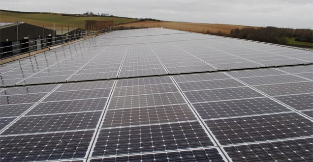 Popular - One of the UK's largest roof-mounted agricultural PV installations