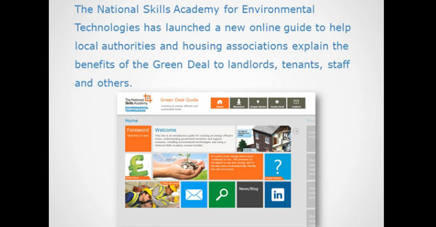 New online guide helps local authorities and housing associations explain the Green Deal