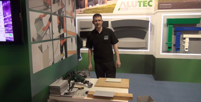 Installation demo of Alutec's Evoke aluminium soffit and fascia system