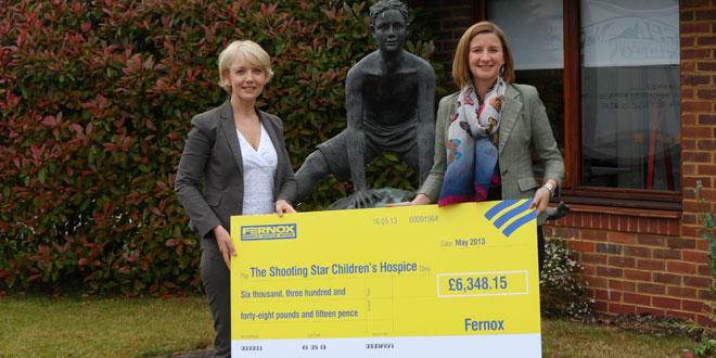 Fernox has recently donated £6,348 to Shooting Star CHASE
