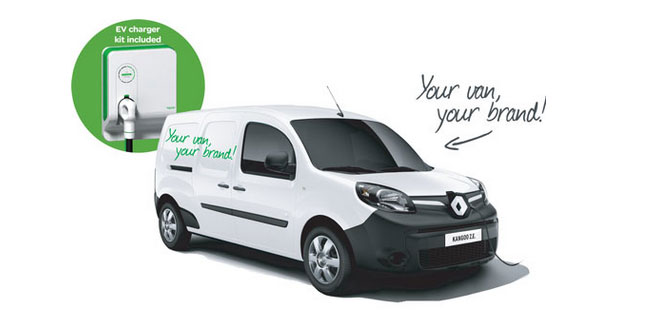 win a brand new electric Renault Kangoo ZE