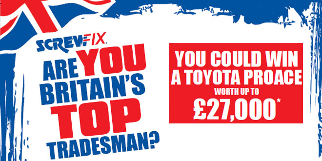 Enter this year's search for Screwfix's Britain's Top Tradesman