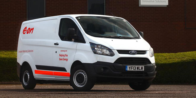 Ford transit custom order sparked by E.ON fleet growth