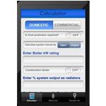 Fernox heating system size calculator app