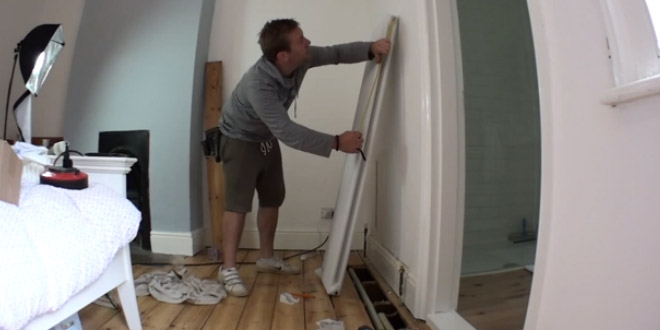 How to install a column radiator