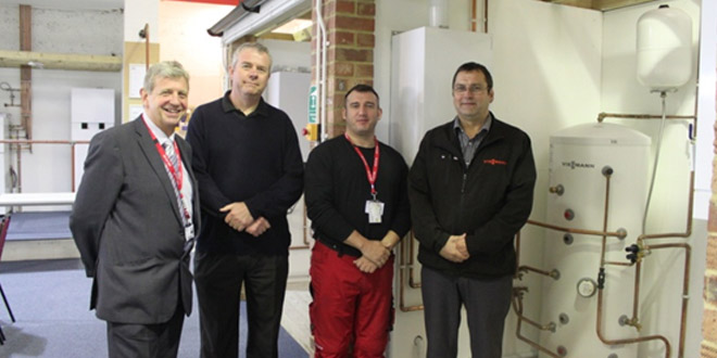 Viessmann and East Surrey College unveil new technology training facility