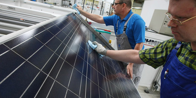 Sharp ends solar panel production in UK factory