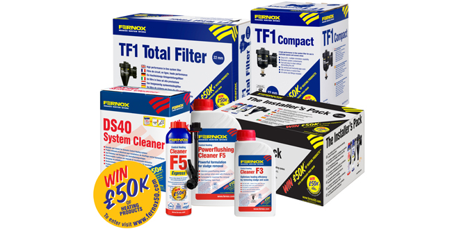 Fernox celebrates 50 years with £50K prize draw