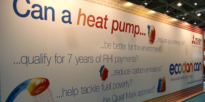Increase in heat pump awareness reported at Ecobuild