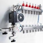 Popular - New JG Speedfit manifold and mixing valve