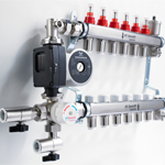 New JG Speedfit manifold and mixing valve