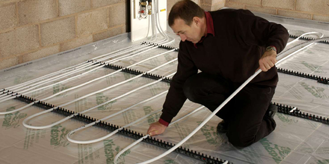How wet underfloor heating systems work