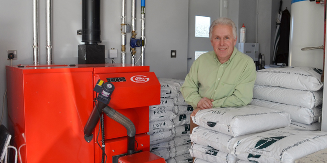 Property developer opts for Wood pellet boiler
