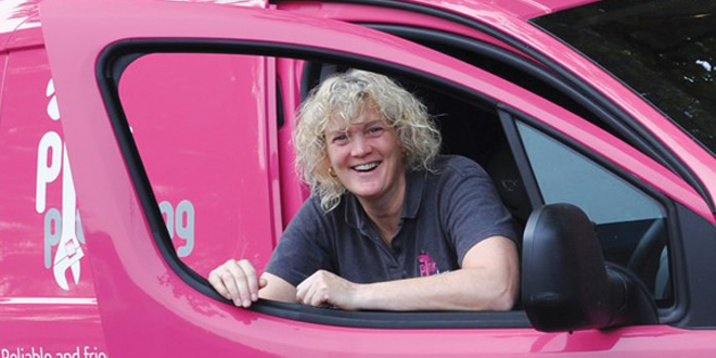 Founder of Pink Plumbing, Philippa Cunningham