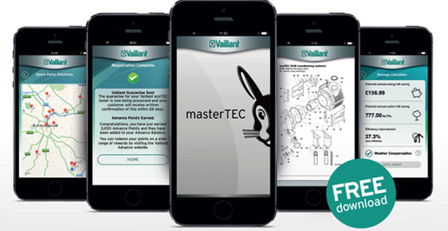 Vaillant launches its masterTEC app for installers