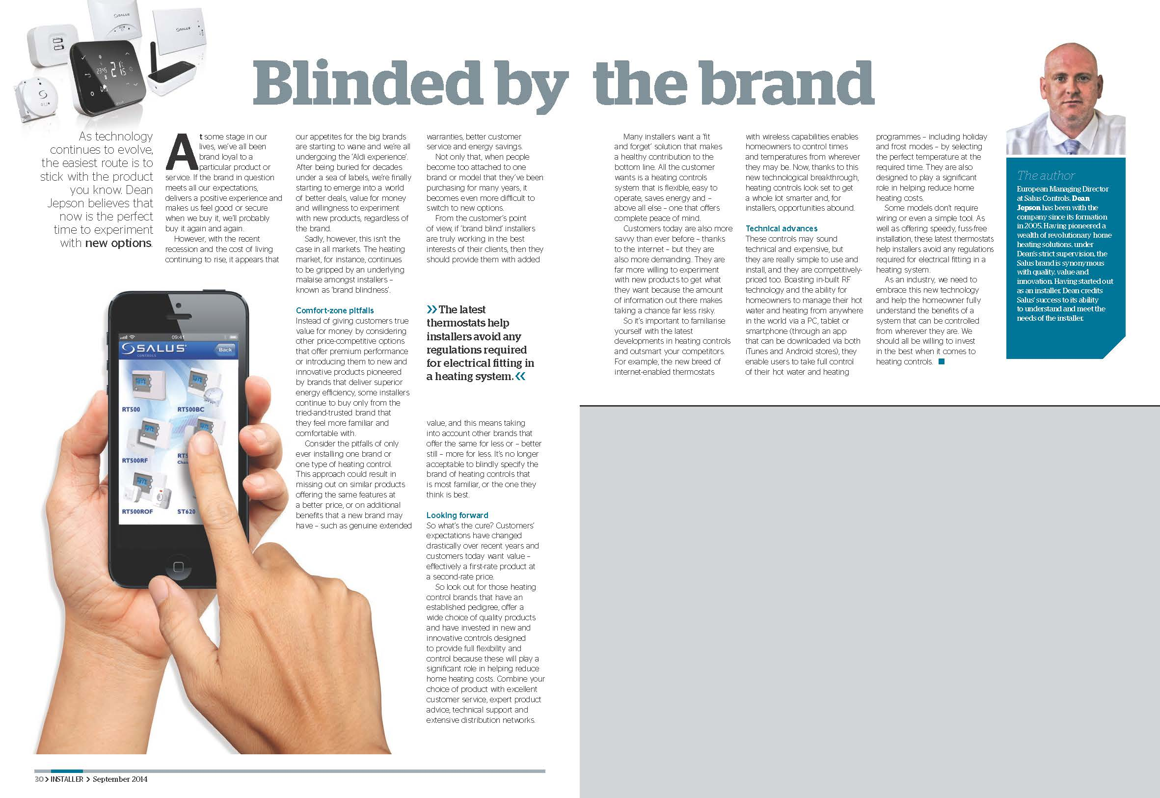 Blinded by the brandweb