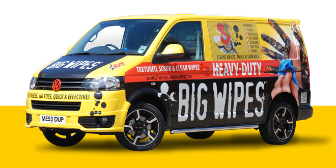Filth-busting Big Wipes 4×4 vans take to the road