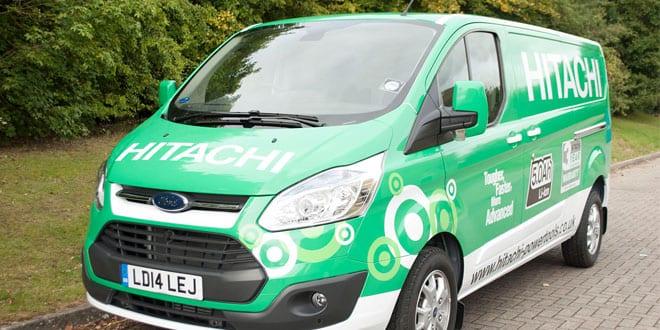 Popular - Hitachi's big green power tool carrying machines hit the road