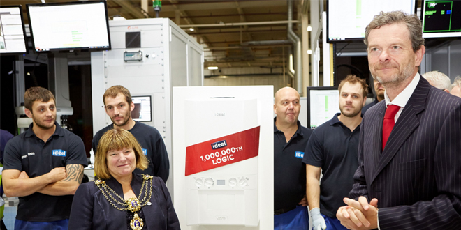 8618db018b Hull s Lord Mayor and Ideal Boilers celebrate millionth Logic boiler ...
