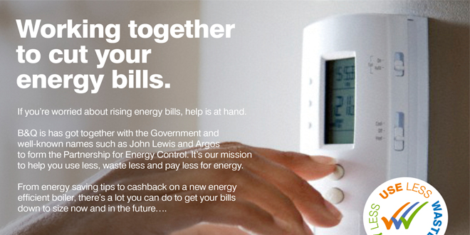 A mock-up of 'The Big Energy Vision' advert