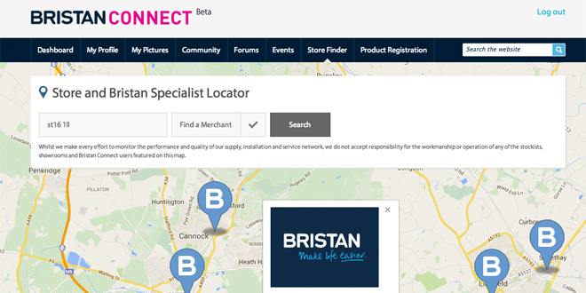 Bristan connect web