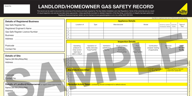 Gas safety record web