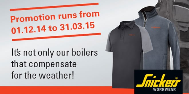 Popular - Get free Snickers workwear with Viessmann promotion