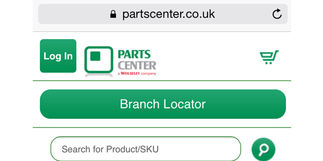 Parts Center mobile web