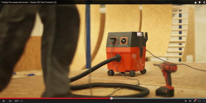 Video review of Fein's Dustex 25L dust extractor - Installer