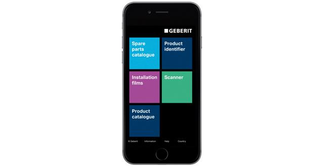 Geberit pro app web
