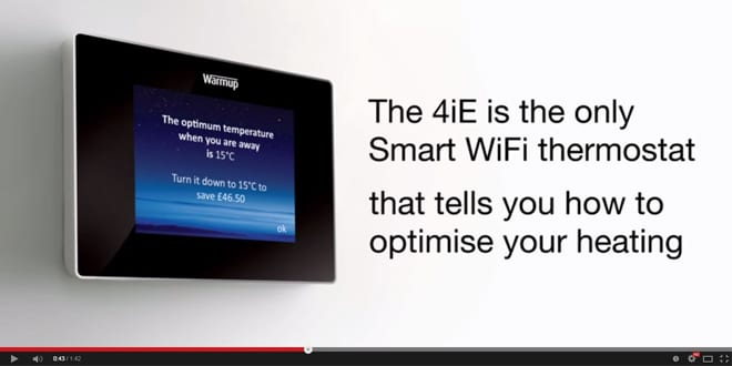 Popular - See the benefits of the new Warmup 4iE Smart WiFi Thermostat