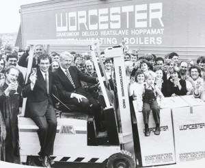 Worcester Bosch Group took the opportunity to recreate a photo with Cecil Duckworth and Peter Walker in 1984