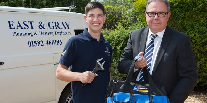 Popular - Installer2015 visitor bags his prize