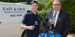 Installer2015 visitor bags his prize