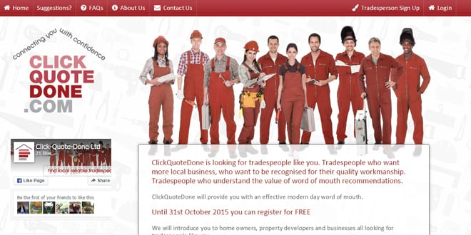 Popular - Click-Quote-Done launches website to match homeowners with tradespeople