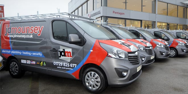 Popular - Heating and electrical company chooses Vauxhall Vivaro vans