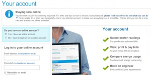 British Gas account web