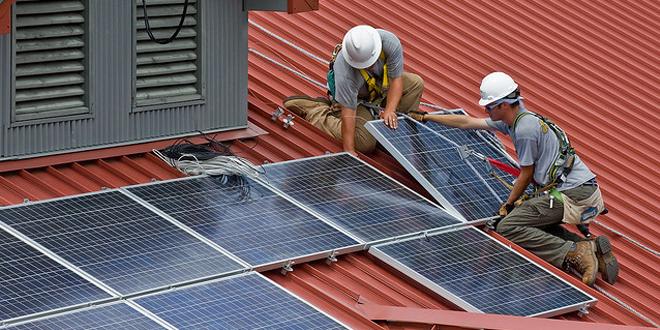 Solar panels web