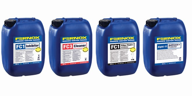 Popular - Fernox launches enhanced range of commercial water treatment chemicals