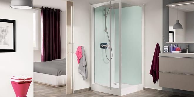Popular - Latest Saniflo Kinedo shower cubicles have interior glass panels