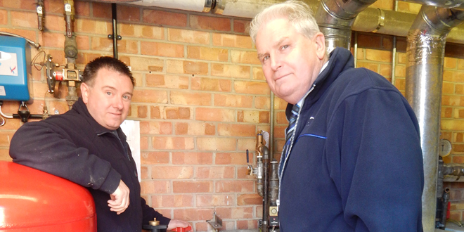 (From left to right) David Mason from Gasway with Michael Mingay from Norfolk Property Services