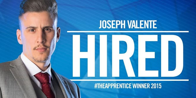 Popular - Plumber Joseph Valente wins The Apprentice 2015