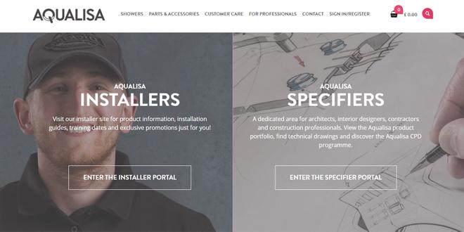 Aqualisa website