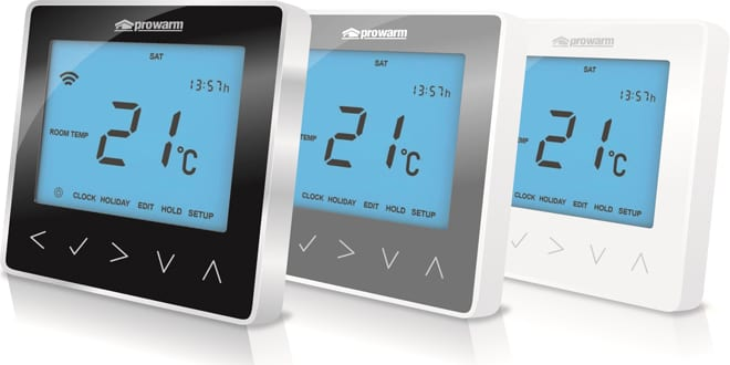 Popular - New Prowarm Protouch IQ thermostat launched for underfloor heating systems