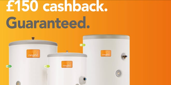 Popular - Get £150 cash back on every Megaflo cylinder