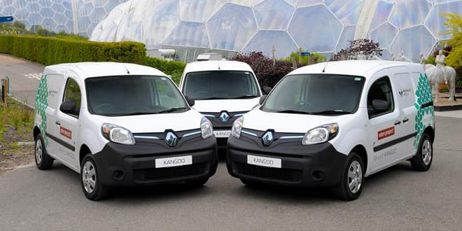 Popular - Renault electric vehicles arrive at The Eden Project
