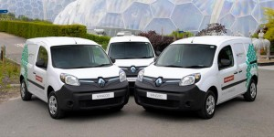 Renault electric vehicles arrive at The Eden Project